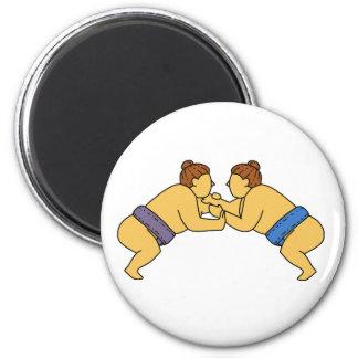 Imã Linha dos lutadores do Sumo de Rikishi mono