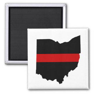 Imã Linha vermelha fina ímã de Ohio