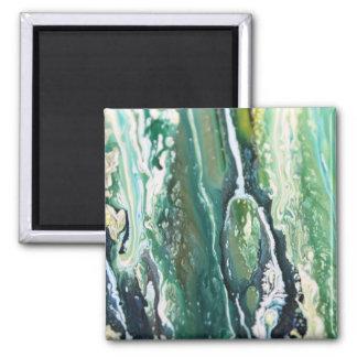Imã Linhas de pintura do abstrato do vertical de