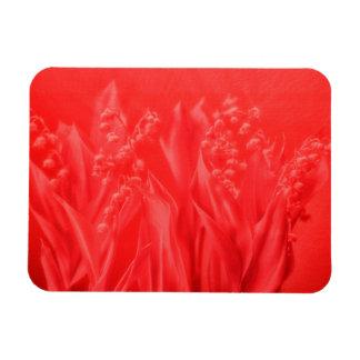 Ímã Lírio do vale no vermelho