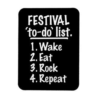 Ímã Lista do tumulto do ` do festival' (branca)