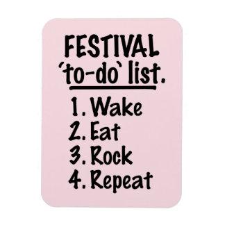 Ímã Lista do tumulto do ` do festival' (preto)