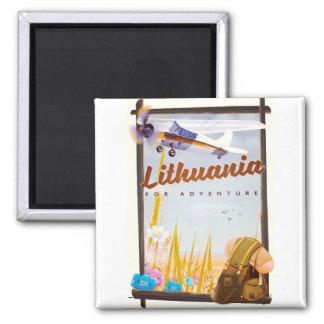 Imã lithuania - para um poster de viagens da aventura