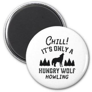 Imã Lobo com fome frio