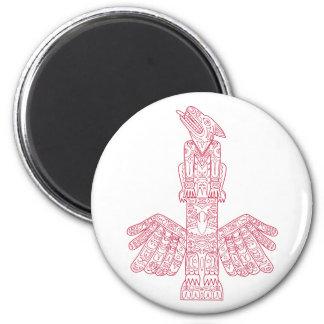 Imã Lobo e arte do Doodle de pólo de Totem de Eagle