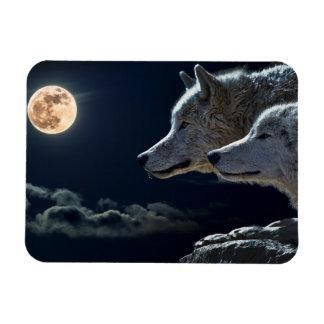 Ímã Lobos do lobo que urram no refrigerador Magn da