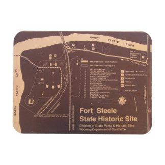 Ímã Local histórico do estado de Fred Steele do forte,