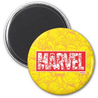 Imã Logotipo da maravilha de Kawaii com teste padrão