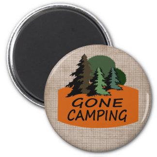 Imã Logotipo de acampamento ido do campista