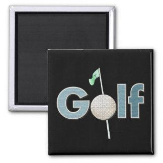 Imã Logotipo do golfe com esportes da bola de golfe e