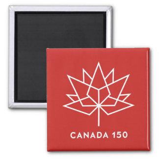 Imã Logotipo do oficial de Canadá 150 - vermelho e