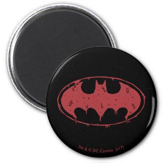 Imã Logotipo Oozing do bastão vermelho de Batman |