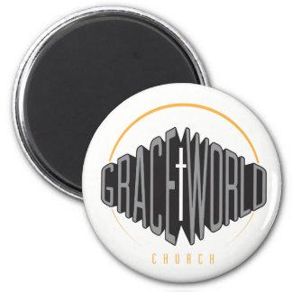 Imã Logotipo redondo do Alt do ímã da igreja do mundo