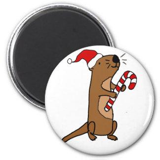Imã Lontra de mar bonito em desenhos animados do Natal