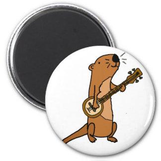 Imã Lontra de mar engraçada que joga o banjo