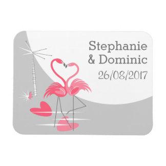Ímã Lua do amor do flamingo a grande nomeia a data