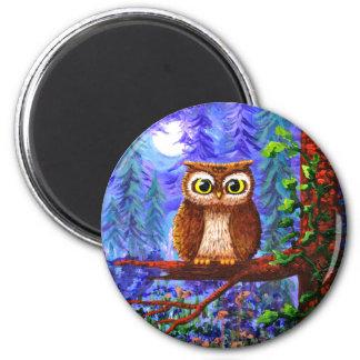 Imã Lua engraçada Creationarts lunático da floresta da