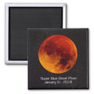 Imã Lua super do sangue azul astr raro e especial de A