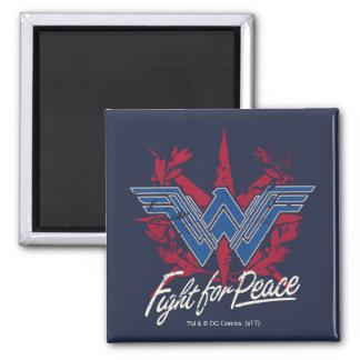 Imã Luta da mulher maravilha para o símbolo de paz