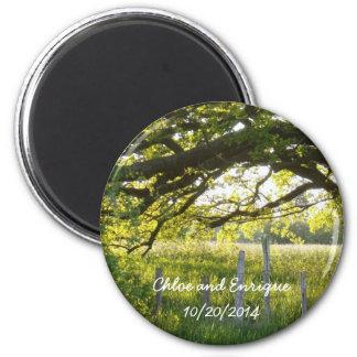 Imã Luz solar e casamento personalizado árvores
