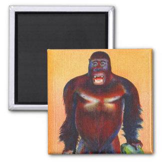 Imã Macaco enchido cartão de Gorillia do kitsch do