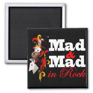 "Imã ""Mad & Mad in Rock"" Imãs De Geladeira"