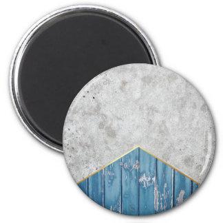 Imã Madeira azul #347 da seta concreta