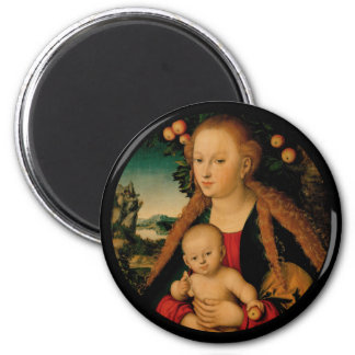 Imã Madonna e criança do cristo sob a árvore de Apple
