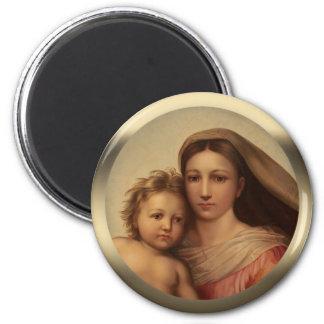 Imã Madonna Prang de Sistine da criança doce de Mary e