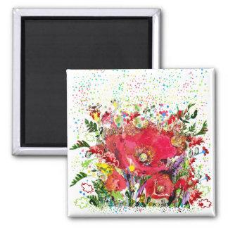 Imã Magnet Fleurs multicolor