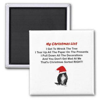 Ímã mal-humorado do quadrado do Natal do gato Ímã Quadrado