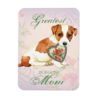 Ímã Mamã do coração de Russell Terrier