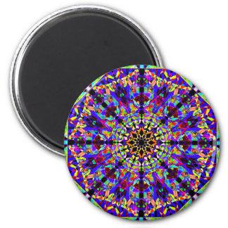 Imã Mandala colorida de Mosaïc
