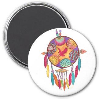 Ímã, mandala do sudoeste do nativo americano ímã redondo 7.62cm