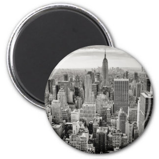 Imã Manhattan, New York (panorama preto & branco)