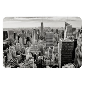 Ímã Manhattan, New York (panorama preto & branco)