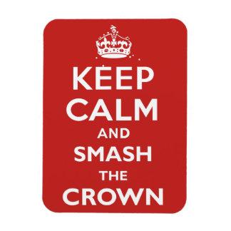 Ímã Mantenha a calma e a quebra a coroa