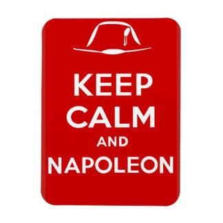 Ímã Mantenha a calma e o Napoleon