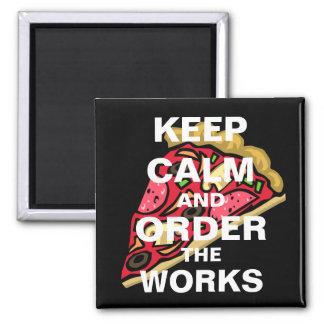 Imã Mantenha a calma e peça os trabalhos