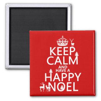 Imã Mantenha a calma e tenha um Noel feliz (o Natal)