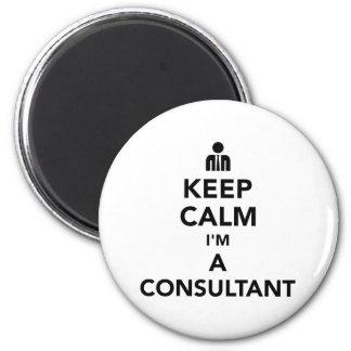 Imã Mantenha a calma que eu sou um consultante