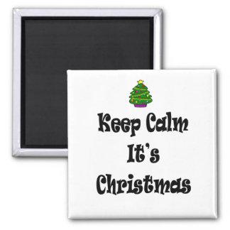 Imã Mantenha a calma seus Natal e árvore