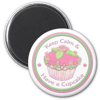 Imã Mantenha a calma & tenha um ímã do cupcake