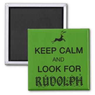 Imã Mantenha calmo e procure o ímã de Rudolph