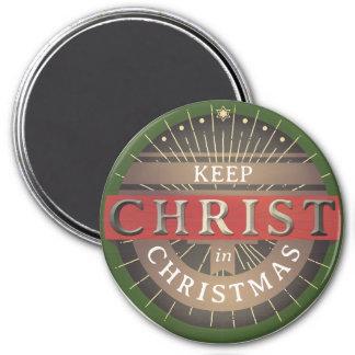 Imã Mantenha o cristo no ímã do Natal
