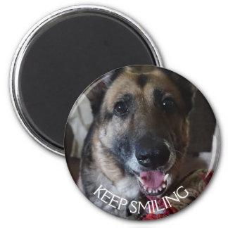 Imã Mantenha o ímã de sorriso do german shepherd
