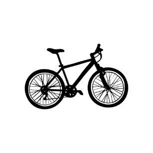 577b004ab10 Imã Mão simples doodle tirado da bicicleta no preto e