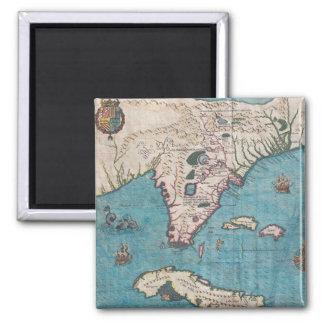 Imã Mapa antigo de Florida e de Cuba
