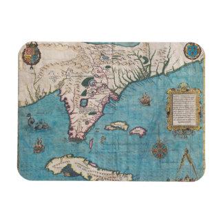 Ímã Mapa antigo de Florida e de Cuba