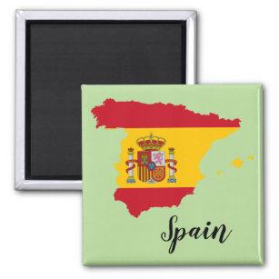 Imã Mapa da bandeira da espanha